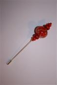 broche - steker rood met bloem 1e foto